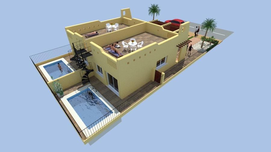SERENA GARDEN, LOS ALCAZARES.  	Serena Garden is a small development with semi detached villas on pl, Spain