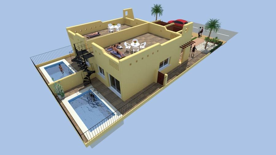 SERENA GARDEN, LOS ALCAZARES.  Serena Garden is a small development with semi detached villas on pl,Spain