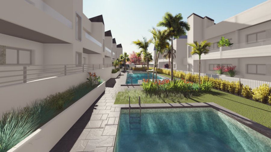 2 BEDROOM DUPLEXES IN A NEW RESIDENTIAL COMPLEX IN TORREVIEJA.  	These properties are build under bi, Spain