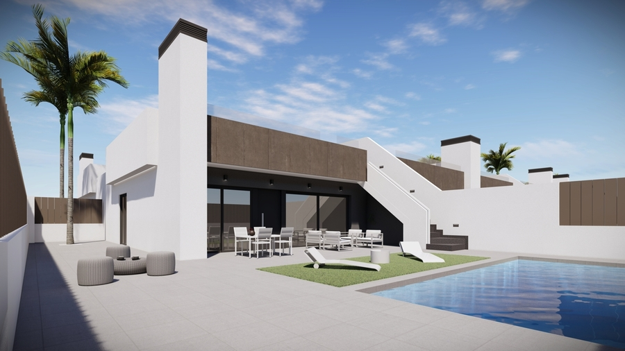 This stunning new development is located in Mar de Cristal on the glistening shores of the Mar Menor,Spain