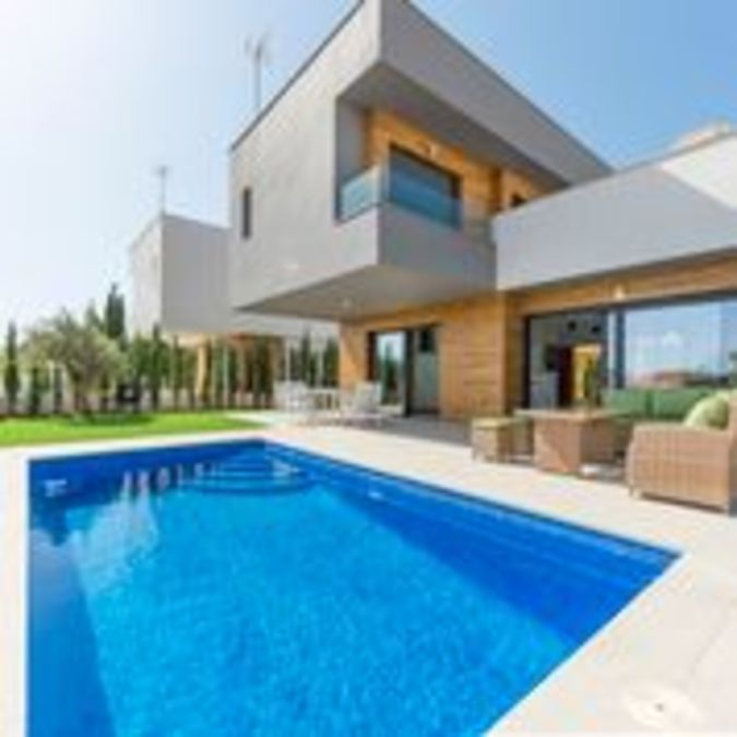 This luxury detached, contemporary villa with 3 bedrooms and 3 bathrooms in Playa Honda (Murcia), is,Spain