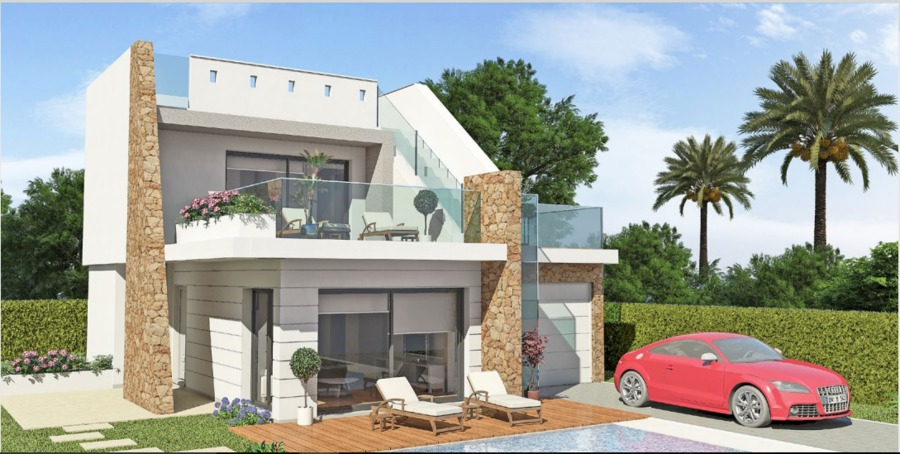 LUXURY 3 BEDROOM DETACHED VILLA IN LOS ALCAZARES, MURCIA.  This property sits in a 263m2 plot with ,Spain