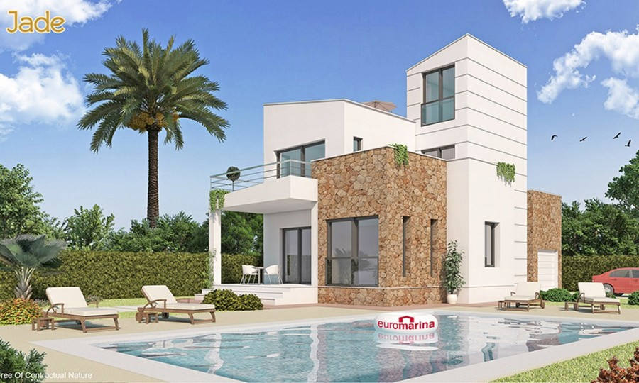 MODERN 3 BEDROOM DETACHED VILLA IN LOS ALCAZARES, MURCIA.  This property sits in a 270m2 plot with ,Spain