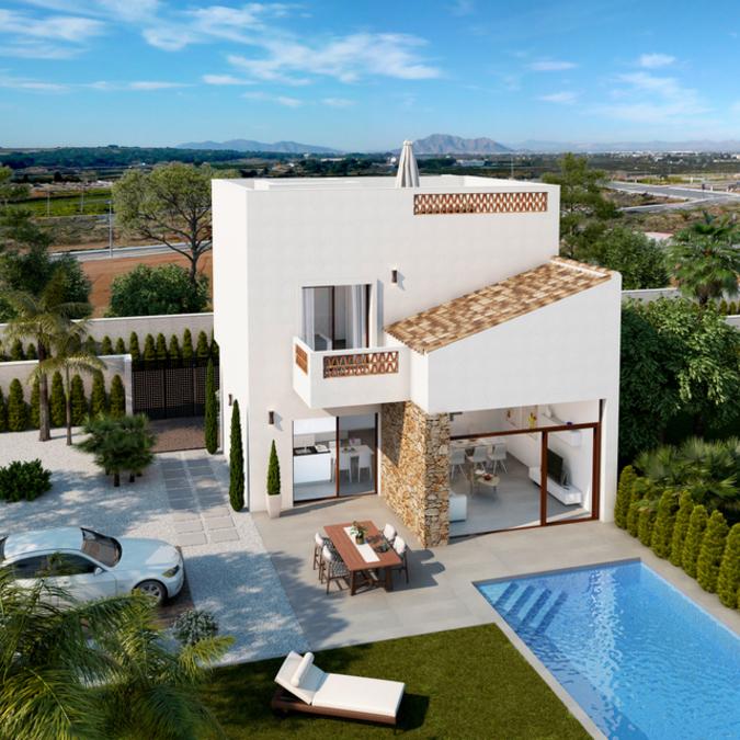 LUXURY 3 BEDROOM DETACHED VILLA IN BENIJOFAR, ALICANTE.  This villa is located just outside the mai,Spain
