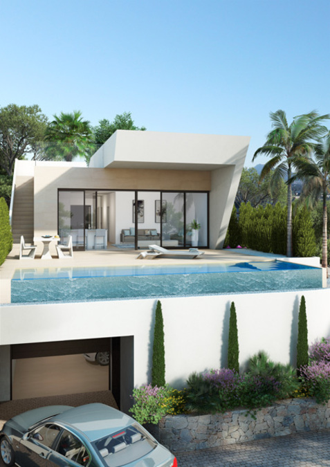 LUXURY 3 BEDROOM VILLA IN ROJALES, WITH SEA VIEWS.  	This design property is located in the unique l, Spain