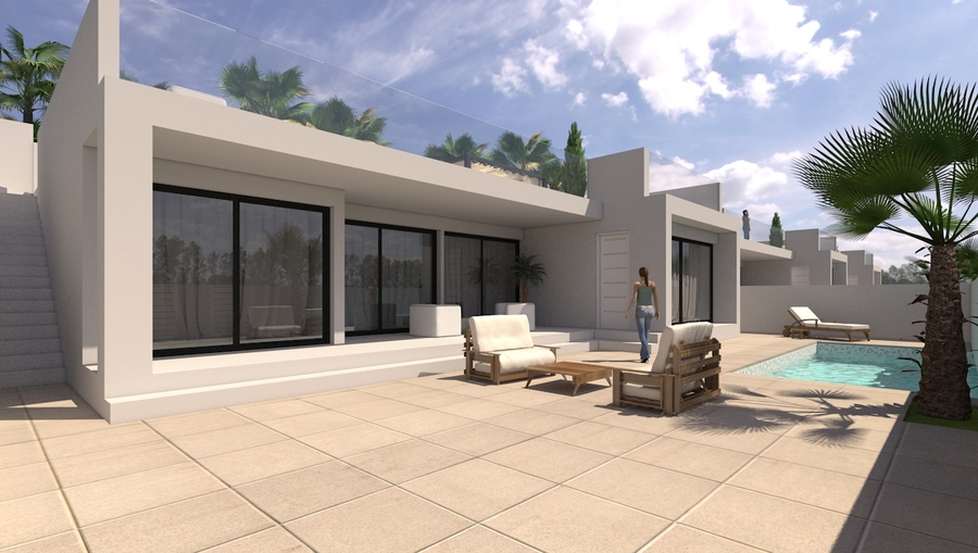 LUXURY 3 BEDROOM DETACHED VILLA IN SAN PEDRO DEL PINATAR, MURCIA.  	This property is a luxury modern, Spain