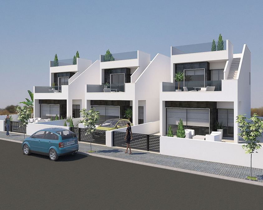 3 BEDROOM DETACHED VILLA IN SAN PEDRO DEL PINATAR, MURCIA.  	This property is a modern detached vill, Spain